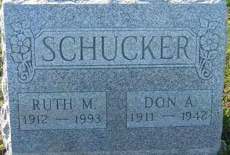 SCHUCKER, DON A - Franklin County, Ohio | DON A SCHUCKER - Ohio Gravestone Photos