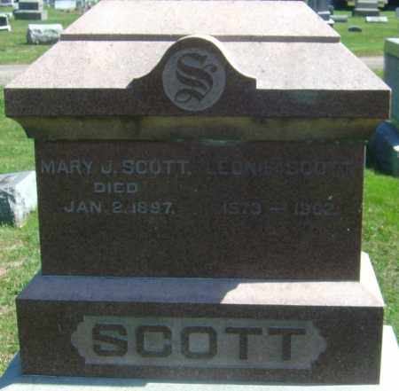 SCOTT, MARY J - Franklin County, Ohio   MARY J SCOTT - Ohio Gravestone Photos