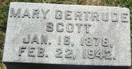 SCOTT, MARY GERTRUDE - Franklin County, Ohio   MARY GERTRUDE SCOTT - Ohio Gravestone Photos