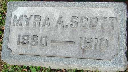 SCOTT, MYRA A - Franklin County, Ohio | MYRA A SCOTT - Ohio Gravestone Photos