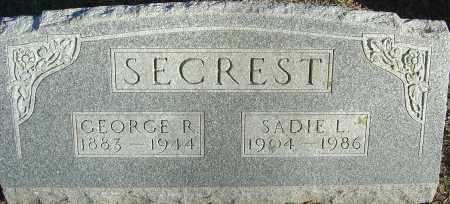 SECREST, SADIE L - Franklin County, Ohio | SADIE L SECREST - Ohio Gravestone Photos