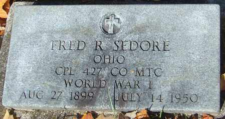 SEDORE, FRED R - Franklin County, Ohio   FRED R SEDORE - Ohio Gravestone Photos