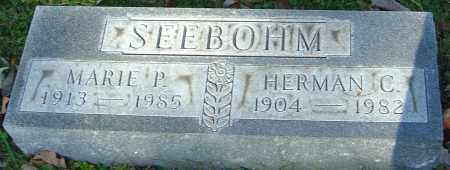 SEEBOHM, MARIE P - Franklin County, Ohio | MARIE P SEEBOHM - Ohio Gravestone Photos