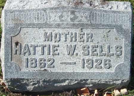 SELLS, HATTIE - Franklin County, Ohio | HATTIE SELLS - Ohio Gravestone Photos
