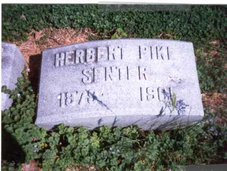 SENTER, HERBERT PIKE - Franklin County, Ohio | HERBERT PIKE SENTER - Ohio Gravestone Photos