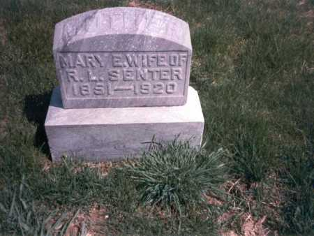 SENTER, MARY E. - Franklin County, Ohio | MARY E. SENTER - Ohio Gravestone Photos