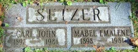 SETZER, CARL JOHN - Franklin County, Ohio | CARL JOHN SETZER - Ohio Gravestone Photos