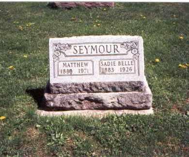 SEYMOUR, SADIE BELLE - Franklin County, Ohio | SADIE BELLE SEYMOUR - Ohio Gravestone Photos