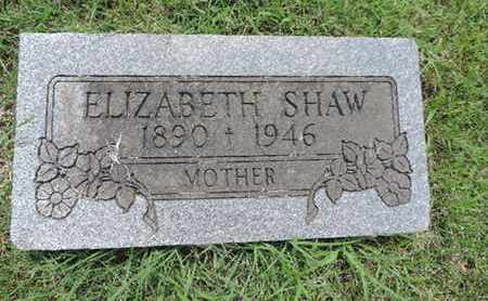 SHAW, ELIZABETH - Franklin County, Ohio | ELIZABETH SHAW - Ohio Gravestone Photos