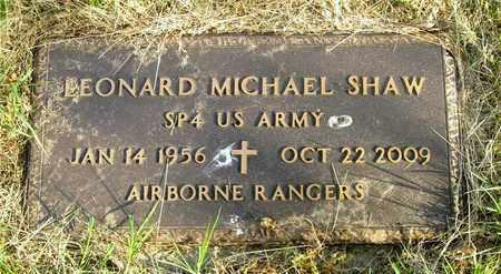 SHAW, LEONARD MICHAEL - Franklin County, Ohio | LEONARD MICHAEL SHAW - Ohio Gravestone Photos