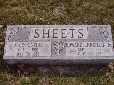 SHEETS,JR., EDWARD CHRISTIAN - Franklin County, Ohio | EDWARD CHRISTIAN SHEETS,JR. - Ohio Gravestone Photos