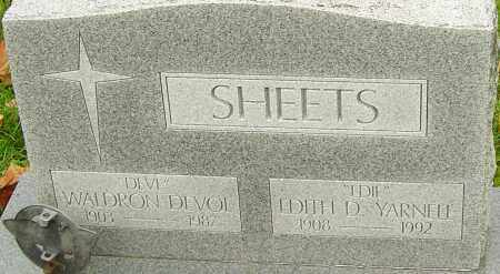 SHEETS, WALDRON - Franklin County, Ohio | WALDRON SHEETS - Ohio Gravestone Photos
