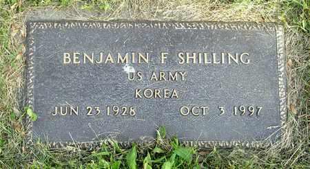 SHILLING, BENJAMIN F. - Franklin County, Ohio | BENJAMIN F. SHILLING - Ohio Gravestone Photos