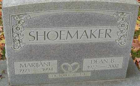 EVANS SHOEMAKER, MARIJANE - Franklin County, Ohio | MARIJANE EVANS SHOEMAKER - Ohio Gravestone Photos