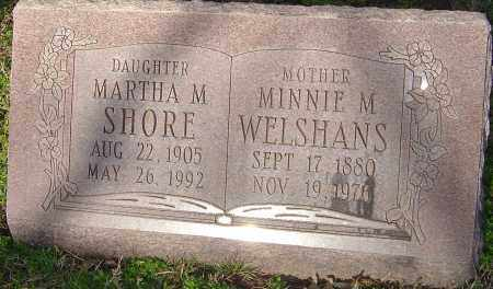 SHORE, MARTHA M - Franklin County, Ohio | MARTHA M SHORE - Ohio Gravestone Photos