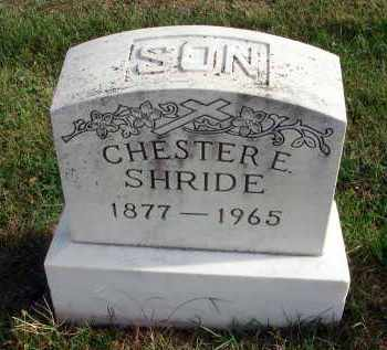 SHRIDE, CHESTER E. - Franklin County, Ohio | CHESTER E. SHRIDE - Ohio Gravestone Photos