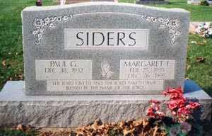 HAMILTON SIDERS, MARGARET FRANCES - Franklin County, Ohio | MARGARET FRANCES HAMILTON SIDERS - Ohio Gravestone Photos