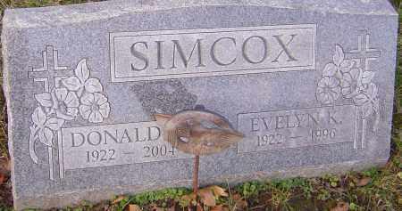 SIMCOX, EVELYN - Franklin County, Ohio   EVELYN SIMCOX - Ohio Gravestone Photos