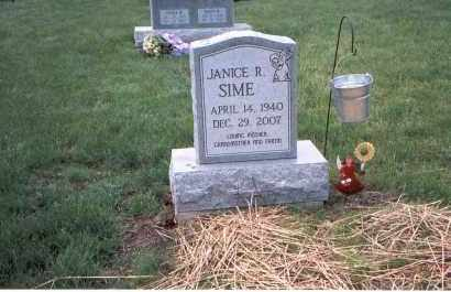 SIME, JANICE RUTH - Franklin County, Ohio | JANICE RUTH SIME - Ohio Gravestone Photos