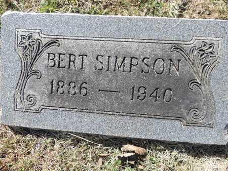 SIMPSON, BERT - Franklin County, Ohio   BERT SIMPSON - Ohio Gravestone Photos