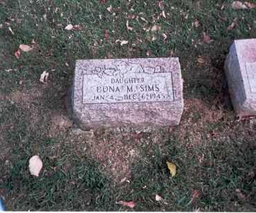 SIMS, DONA M. - Franklin County, Ohio   DONA M. SIMS - Ohio Gravestone Photos