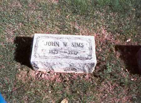 SIMS, JOHN W. - Franklin County, Ohio | JOHN W. SIMS - Ohio Gravestone Photos