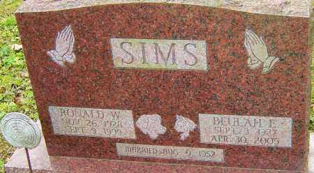 SIMS, BEULAH - Franklin County, Ohio | BEULAH SIMS - Ohio Gravestone Photos