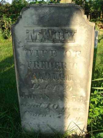 SLOUGH, MARY - Franklin County, Ohio | MARY SLOUGH - Ohio Gravestone Photos