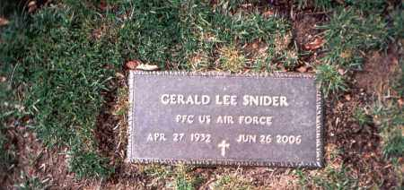 SNIDER, GERALD LEE - Franklin County, Ohio | GERALD LEE SNIDER - Ohio Gravestone Photos