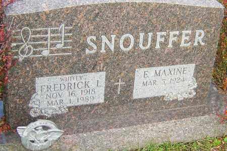 SNOUFFER, FREDRICK - Franklin County, Ohio | FREDRICK SNOUFFER - Ohio Gravestone Photos