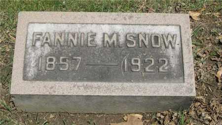SNOW, FANNIE M. - Franklin County, Ohio | FANNIE M. SNOW - Ohio Gravestone Photos