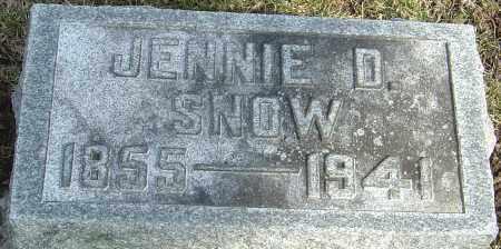 SNOW, JENNIE D - Franklin County, Ohio   JENNIE D SNOW - Ohio Gravestone Photos