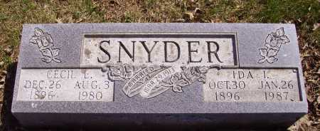 TIPTON SNYDER, IDA I. - Franklin County, Ohio | IDA I. TIPTON SNYDER - Ohio Gravestone Photos