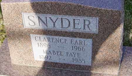 SNYDER, CLARENCE EARL - Franklin County, Ohio | CLARENCE EARL SNYDER - Ohio Gravestone Photos