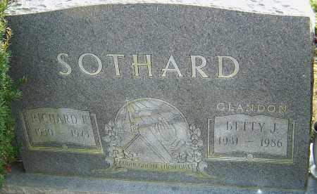 GLANDON SOTHARD, BETTY - Franklin County, Ohio | BETTY GLANDON SOTHARD - Ohio Gravestone Photos