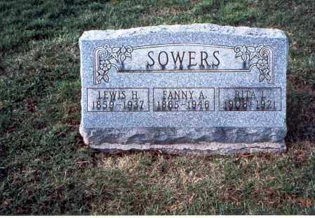 BOGGS SOWERS, FANNIE ANN - Franklin County, Ohio | FANNIE ANN BOGGS SOWERS - Ohio Gravestone Photos
