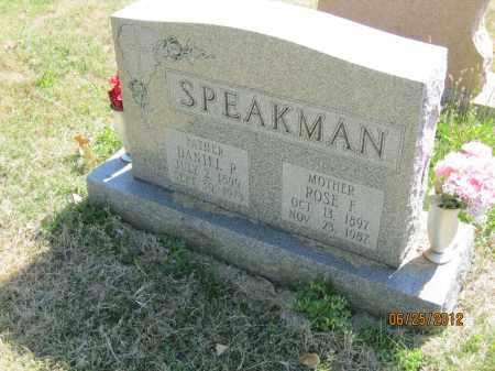 SPEAKMAN, ROSE FRANCES - Franklin County, Ohio | ROSE FRANCES SPEAKMAN - Ohio Gravestone Photos