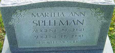 SPEELMAN, MARTHA - Franklin County, Ohio   MARTHA SPEELMAN - Ohio Gravestone Photos