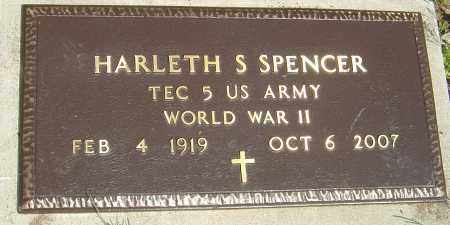 "SPENCER, HARLETH S ""HANK"" - Franklin County, Ohio   HARLETH S ""HANK"" SPENCER - Ohio Gravestone Photos"