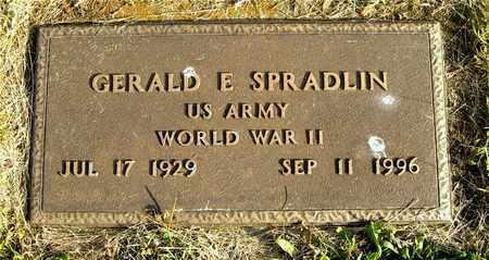 SPRADLIN, GERALD E. - Franklin County, Ohio | GERALD E. SPRADLIN - Ohio Gravestone Photos
