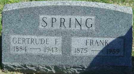 SPRING, FRANK - Franklin County, Ohio   FRANK SPRING - Ohio Gravestone Photos