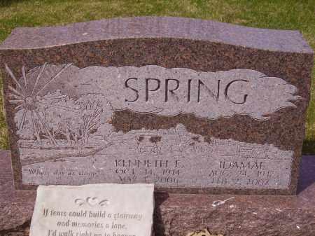SPRING, KENNETH E. - Franklin County, Ohio   KENNETH E. SPRING - Ohio Gravestone Photos