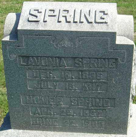 ADAMS SPRING, LAVONIA - Franklin County, Ohio | LAVONIA ADAMS SPRING - Ohio Gravestone Photos