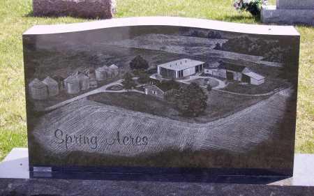 SPRING, VERA L. - BACK OF STONE - Franklin County, Ohio   VERA L. - BACK OF STONE SPRING - Ohio Gravestone Photos