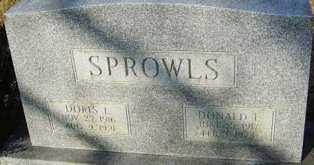SPROWLS, DONALD L - Franklin County, Ohio | DONALD L SPROWLS - Ohio Gravestone Photos