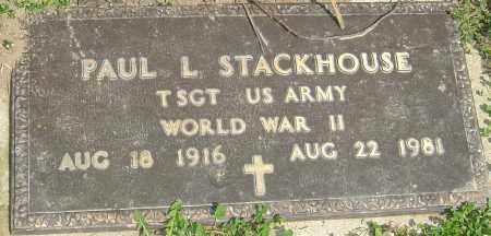 STACKHOUSE, PAUL L - Franklin County, Ohio   PAUL L STACKHOUSE - Ohio Gravestone Photos