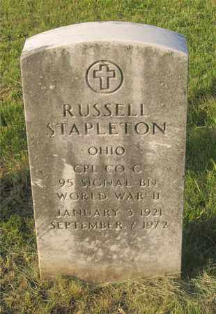 STAPLETON, RUSSELL - Franklin County, Ohio | RUSSELL STAPLETON - Ohio Gravestone Photos