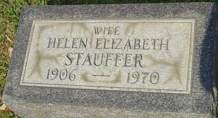 STAUFFER, HELEN ELIZABETH - Franklin County, Ohio   HELEN ELIZABETH STAUFFER - Ohio Gravestone Photos