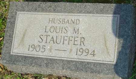 STAUFFER, LOUIS M - Franklin County, Ohio | LOUIS M STAUFFER - Ohio Gravestone Photos