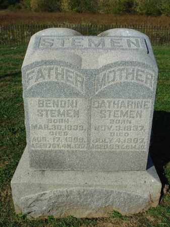 STEMEN, CATHARINE - Franklin County, Ohio | CATHARINE STEMEN - Ohio Gravestone Photos